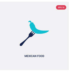 two color mexican food icon from bistro and vector image