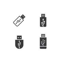 usb data transfer icon vector image