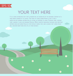 with fairy tale landscape template vector image