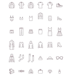 Women clothes set vector