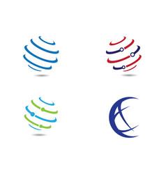 World logo templat vector