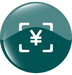 Yen JPY sign icon web app button web icon vector image