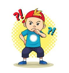 Curious Boy vector image
