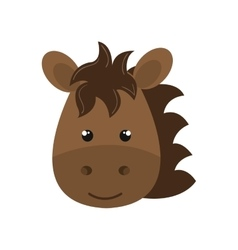 cute animal farm isolated icon design vector image