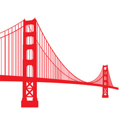 golden gate bridge vector image vector image