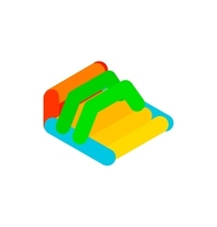 Inflatable trampoline isometric 3d icon vector image