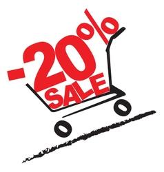 Big sale 20 percentage discount 2 vector