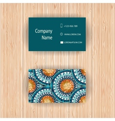 business cards with fish scale design vector image