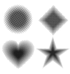 Halftone shapes vector image vector image