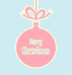 Retro style Christmas ball vector image
