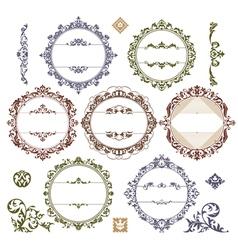 set of royal vintage frames vector image vector image