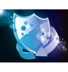 shield icon with arrow vector image