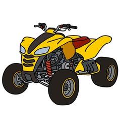 Yellow all terrain vehicle vector image