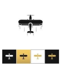 Airplane logo or flight travel tourism icon vector image