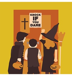 Poster flat banner or background for halloween vector