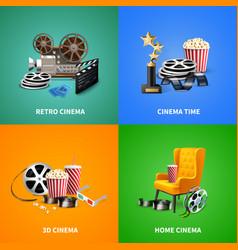 realistic cinema design concept vector image vector image