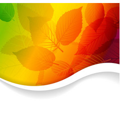Autumn abstract rainbow floral background vector image vector image
