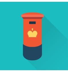 british mail box vector image