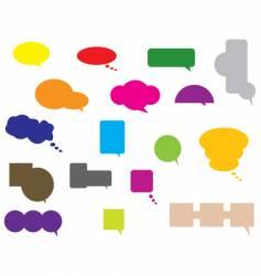 conversation bubbles vector image vector image