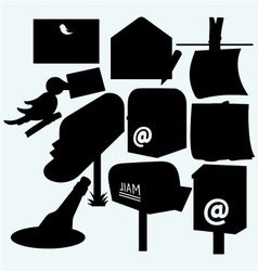 Mail icons and US post office box vector image