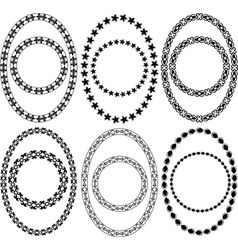 oval and circle decorative frames vector image vector image
