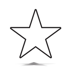 star icon flat star icon on white background vector image vector image
