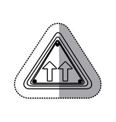 Sticker silhouette triangle shape frame same vector