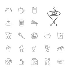 22 restaurant icons vector