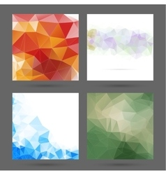 Abstract background with polygonal elements vector