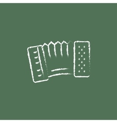 Accordion icon drawn in chalk vector