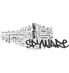 Basic spyware defense mechanisms text word cloud vector