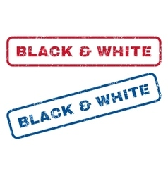 Black White Rubber Stamps vector