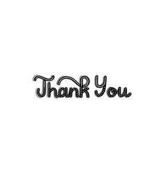 brush written thank you vector image