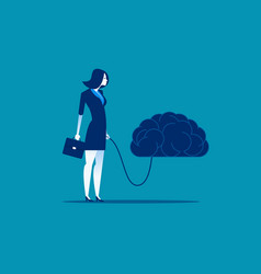 Businesswoman and best brain concept business vector