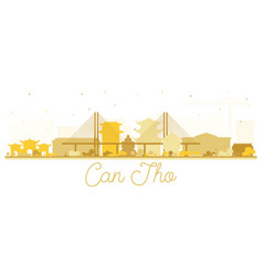 Can tho vietnam city skyline silhouette with vector