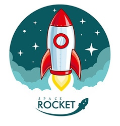 Cartoon Rocket vector image