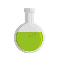 chemistry lab flask vector image