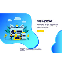 concept management modern conceptual for vector image