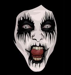 Corpse paint makeup vector