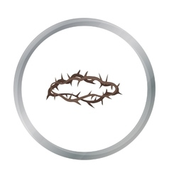 Crown of thorns icon in cartoon style isolated on vector