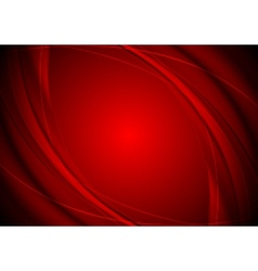 Dark red smooth wavy background vector