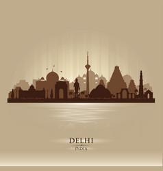 delhi india city skyline silhouette vector image