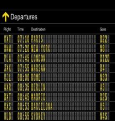 departures vector image
