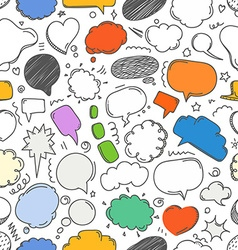 Different sketch peach clouds seamless pattern vector