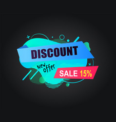 discount new offer sale 15 percents off banner vector image