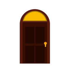door house style isolated icon vector image