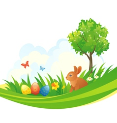 Easter bunny design vector