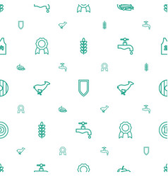 Emblem icons pattern seamless white background vector