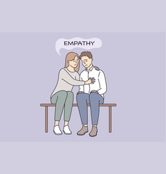 empathy and compassion understanding concept vector image