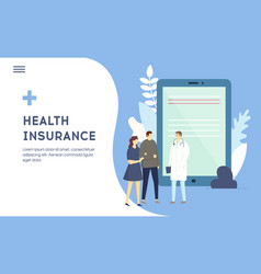 Family medical health insurance concept couple vector